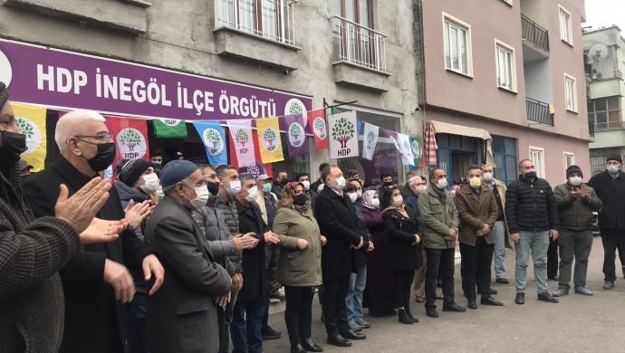 HDP İnegöl İlçe binası açıldı