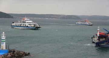 Çanakkale Boğazı'nda geçici olarak feribot seferleri durduruldu