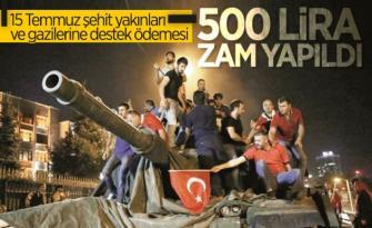 Aylık 1000'er lira şeklinde yapılan destek ödemesinin 500 lira artırılması kararlaştırıldı.