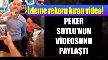 Sedat Peker Soylu'nun videosunu paylaştı