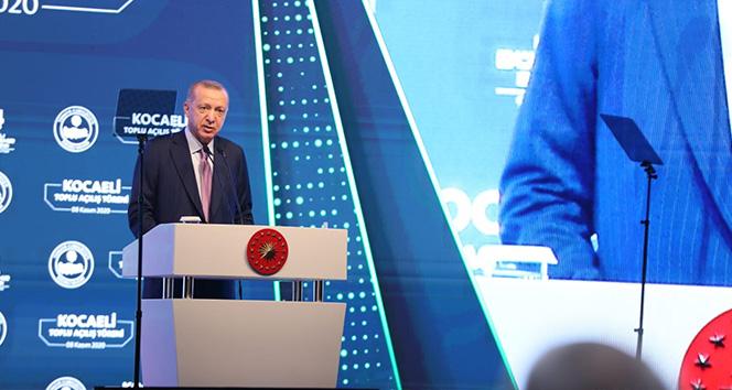 Cumhurbaşkanı Erdoğan toplu açılış törenine katıldı