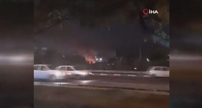 Tahran'da benzin istasyonunda patlama