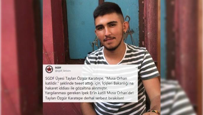 'Musa Orhan katildir' paylaşımı 'İçişleri Bakanı'na hakaret' sayıldı