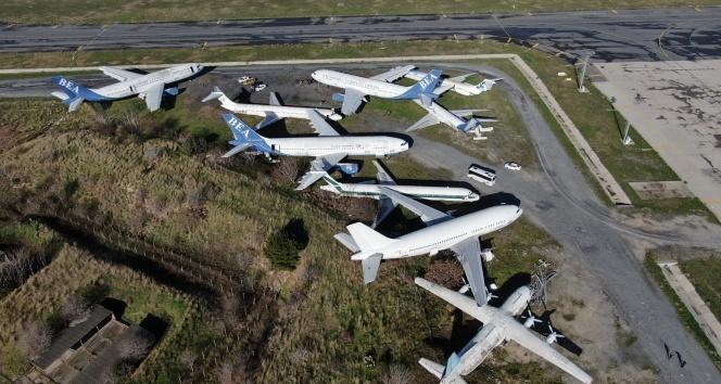 Atatürk Havalimanı'na terk edilen dokuz uçak satışa çıkıyor