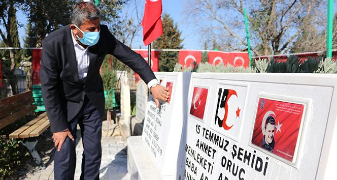 Mezarlara saldıran DEAŞ'lıların yakalanması şehit babasını sevindirdi