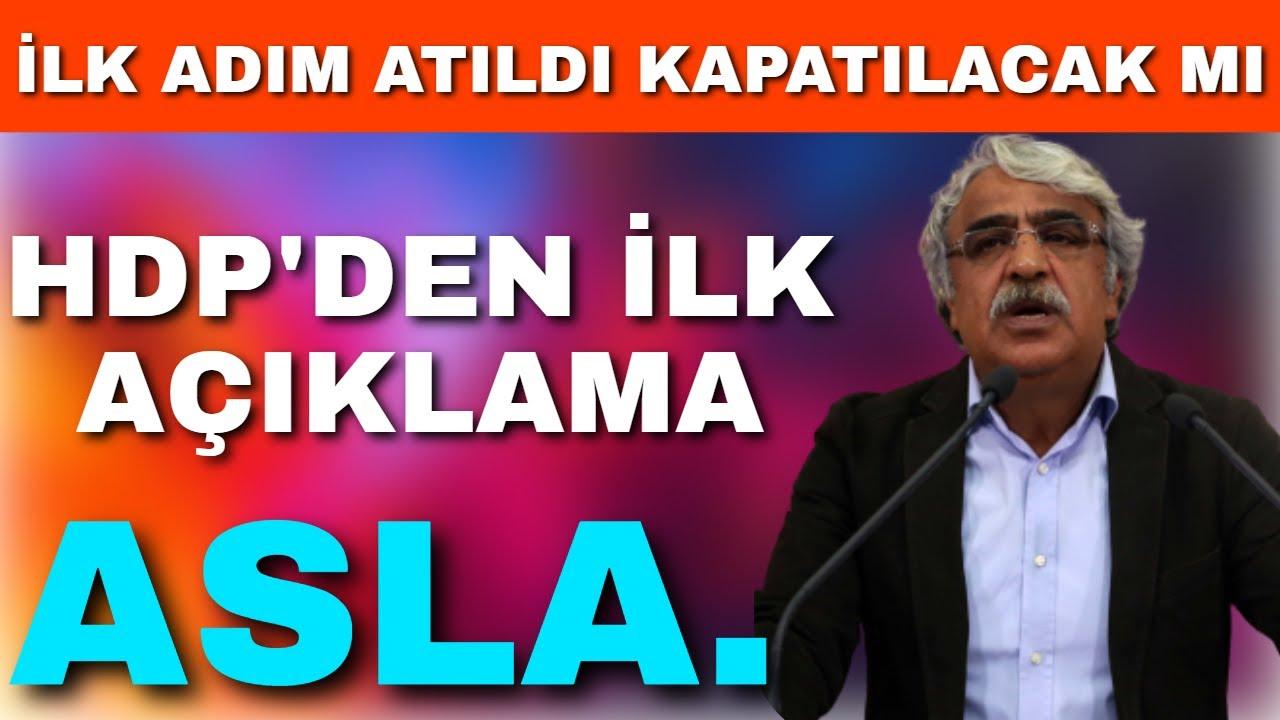 HDP'den İlk Açıklama Geldi Asla Ama Asla