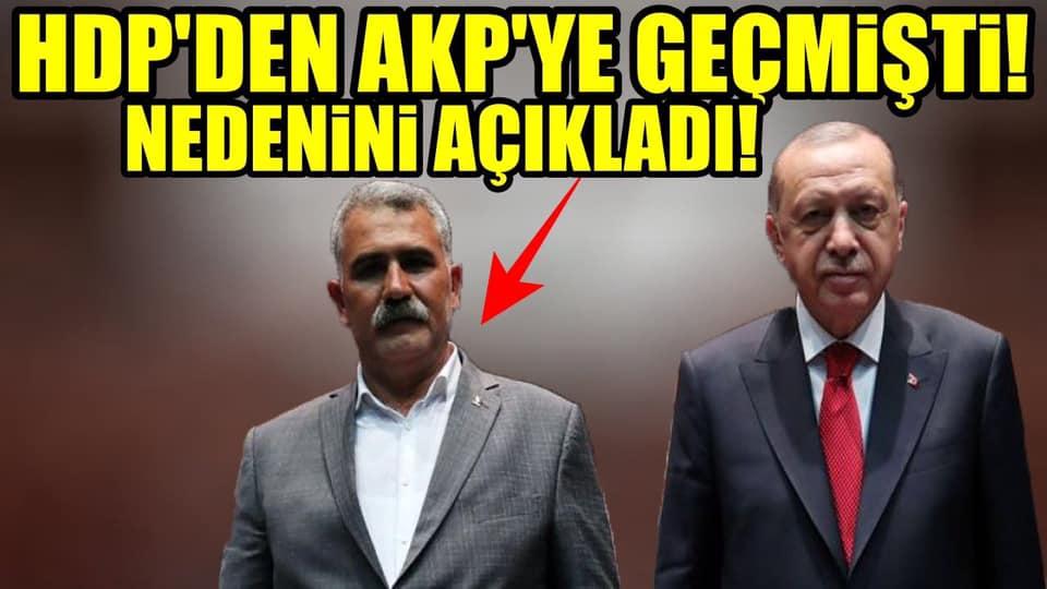 HDP'li Belediye Başkanı, AKP'ye neden geçtiğini açıkladı